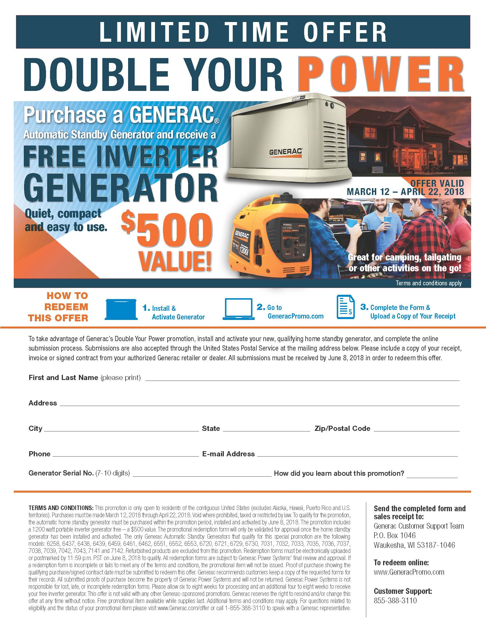 Generac – DOUBLE YOUR POWER