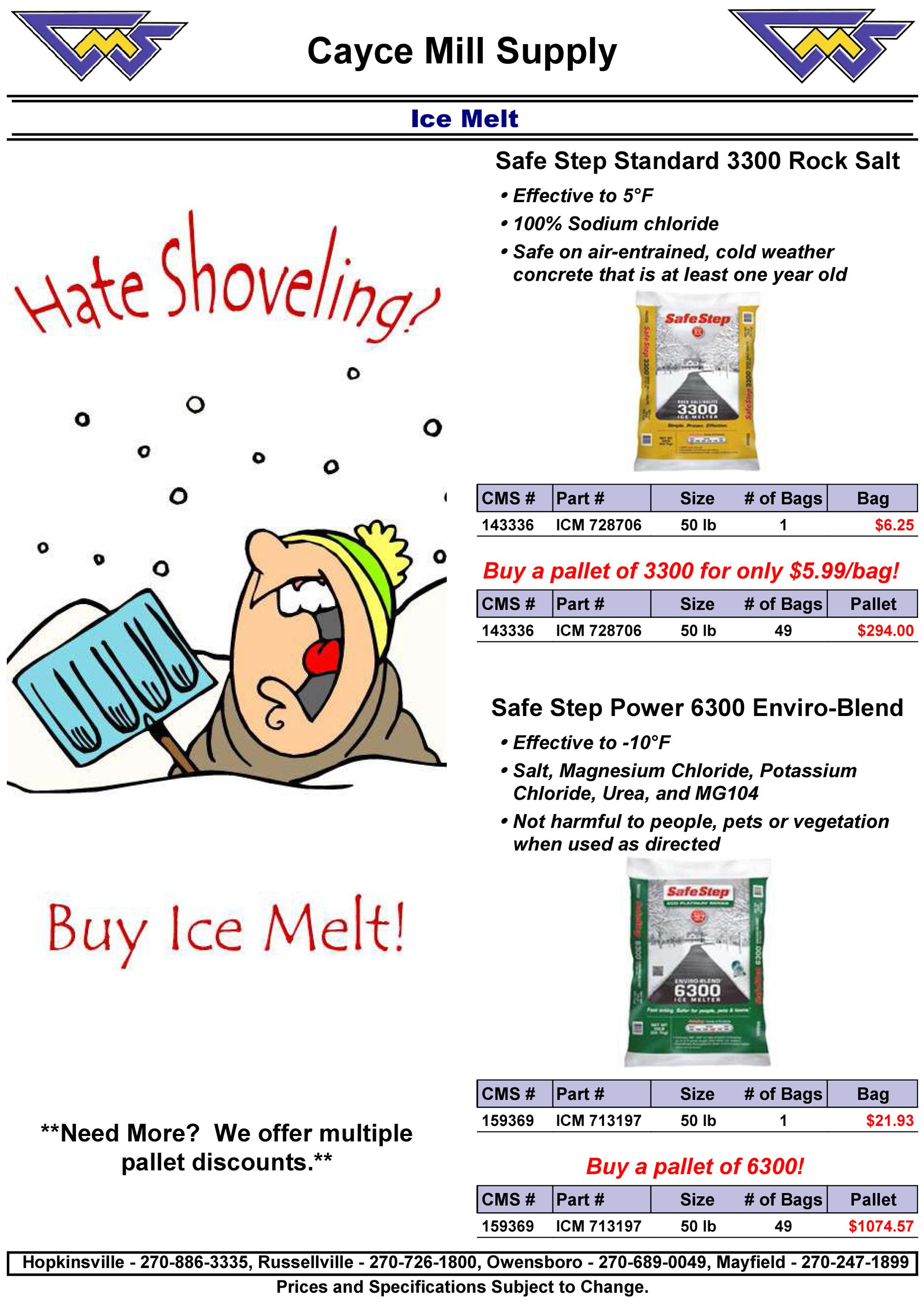 ICE MELT PROMO