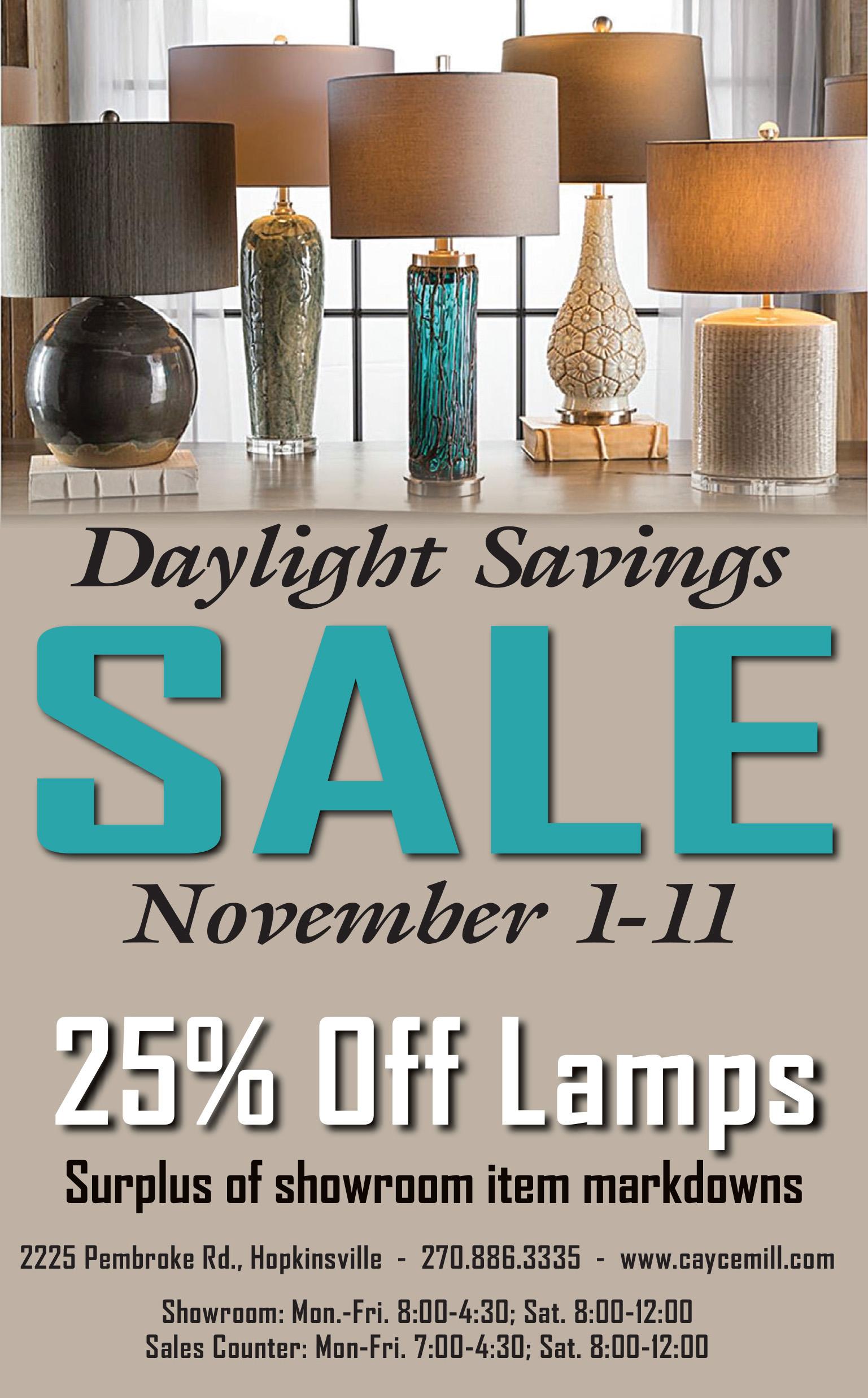 Design Center – Daylight Savings Sale