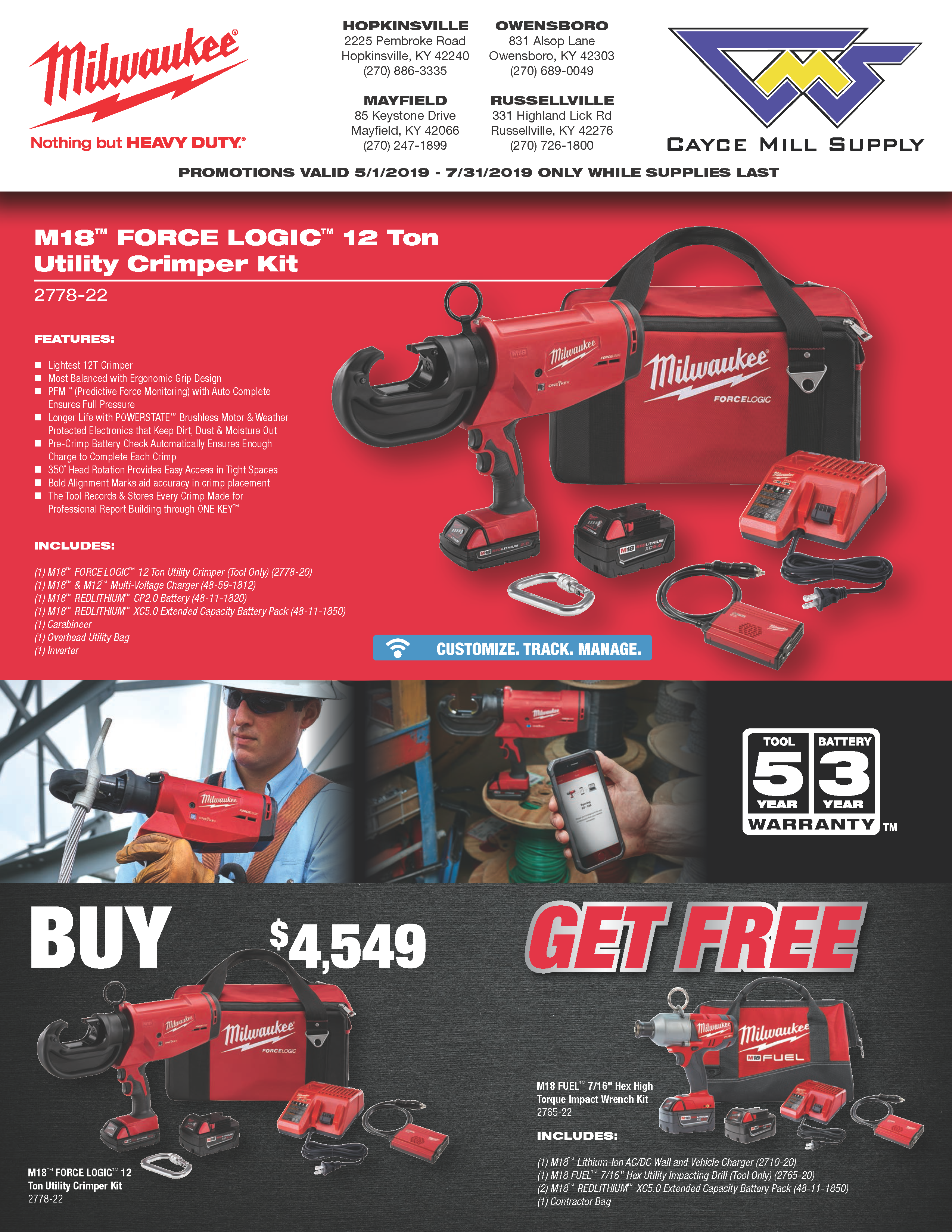 Milwaukee Power Accessories Promo