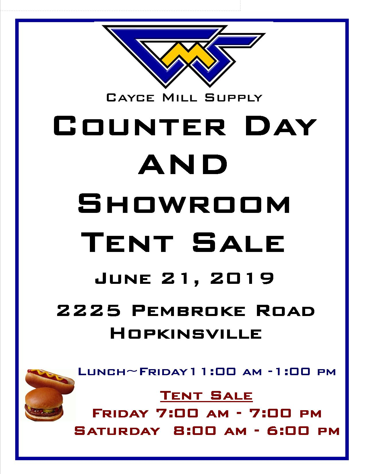 Counter Day & Showroom Sale