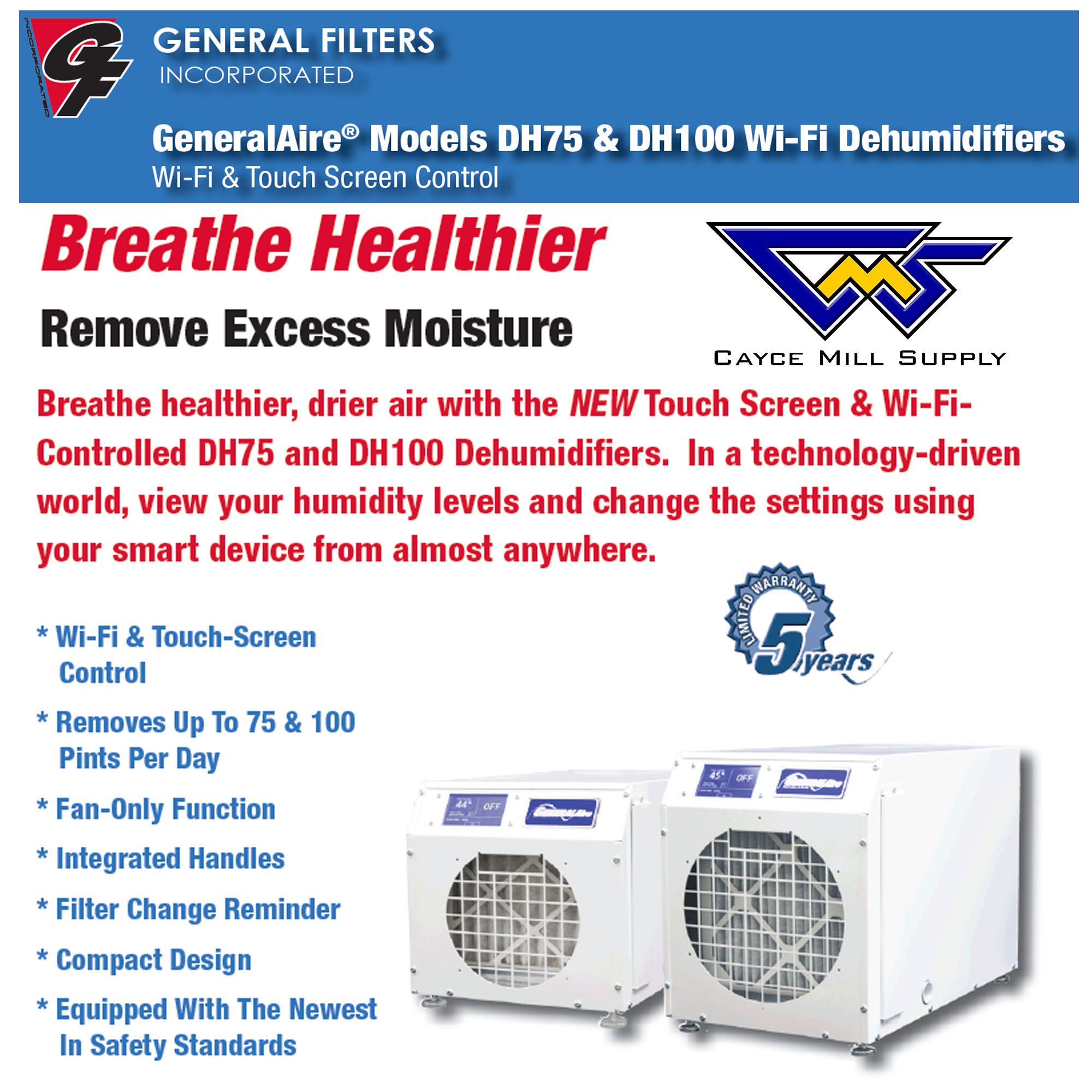 General Filters – Dehumidifiers – WE'VE GOT IT!