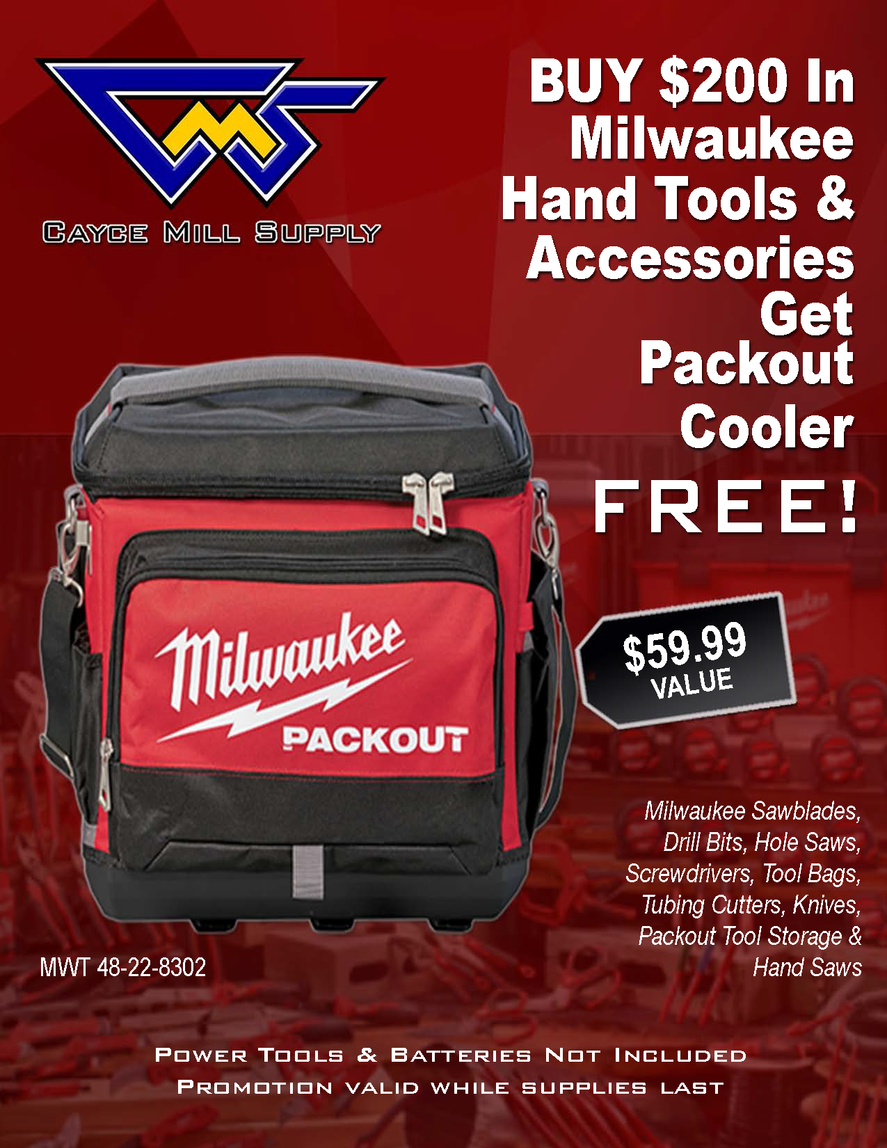 Milwaukee Tool Packout Cooler Promo