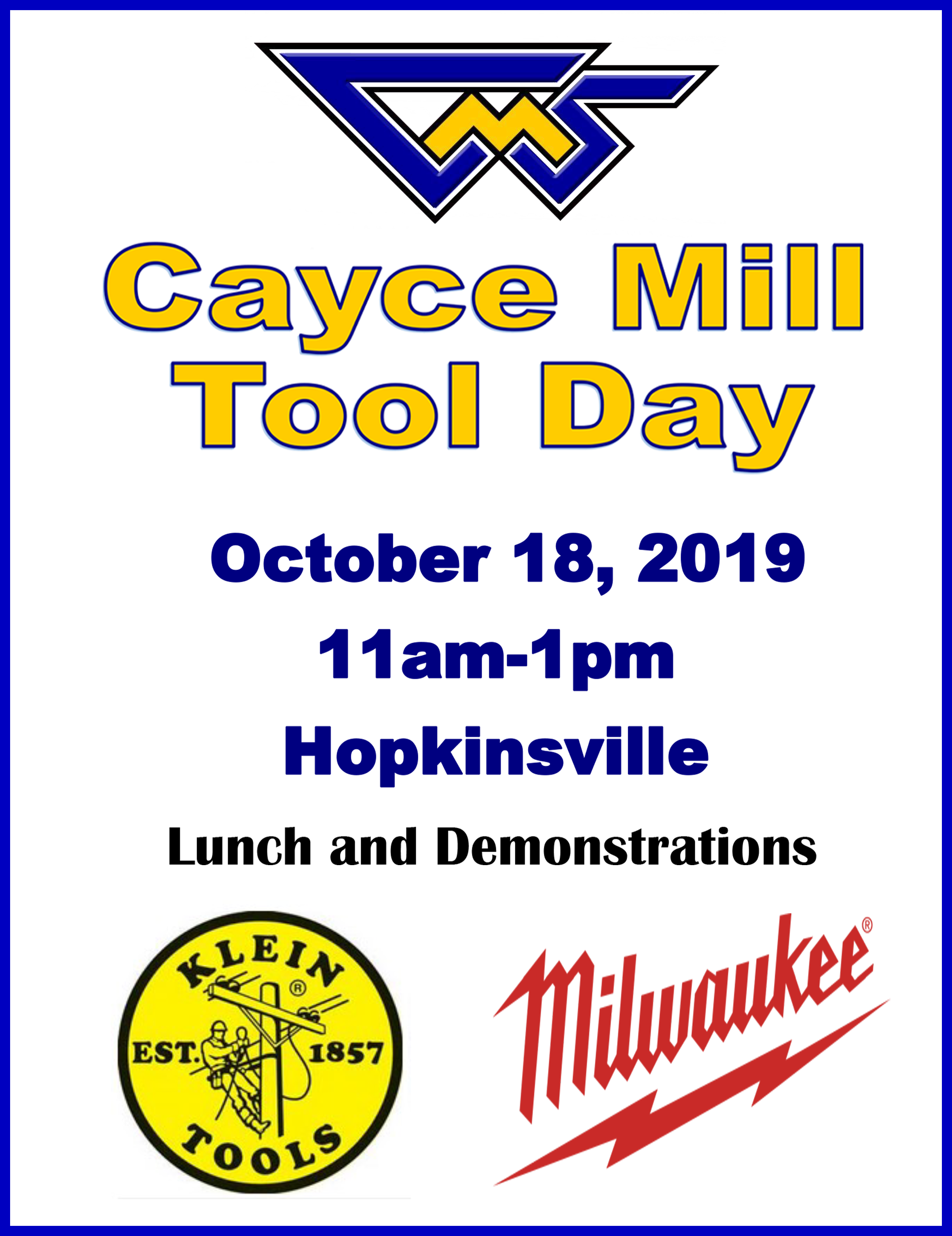 Cayce Mill Tool Day