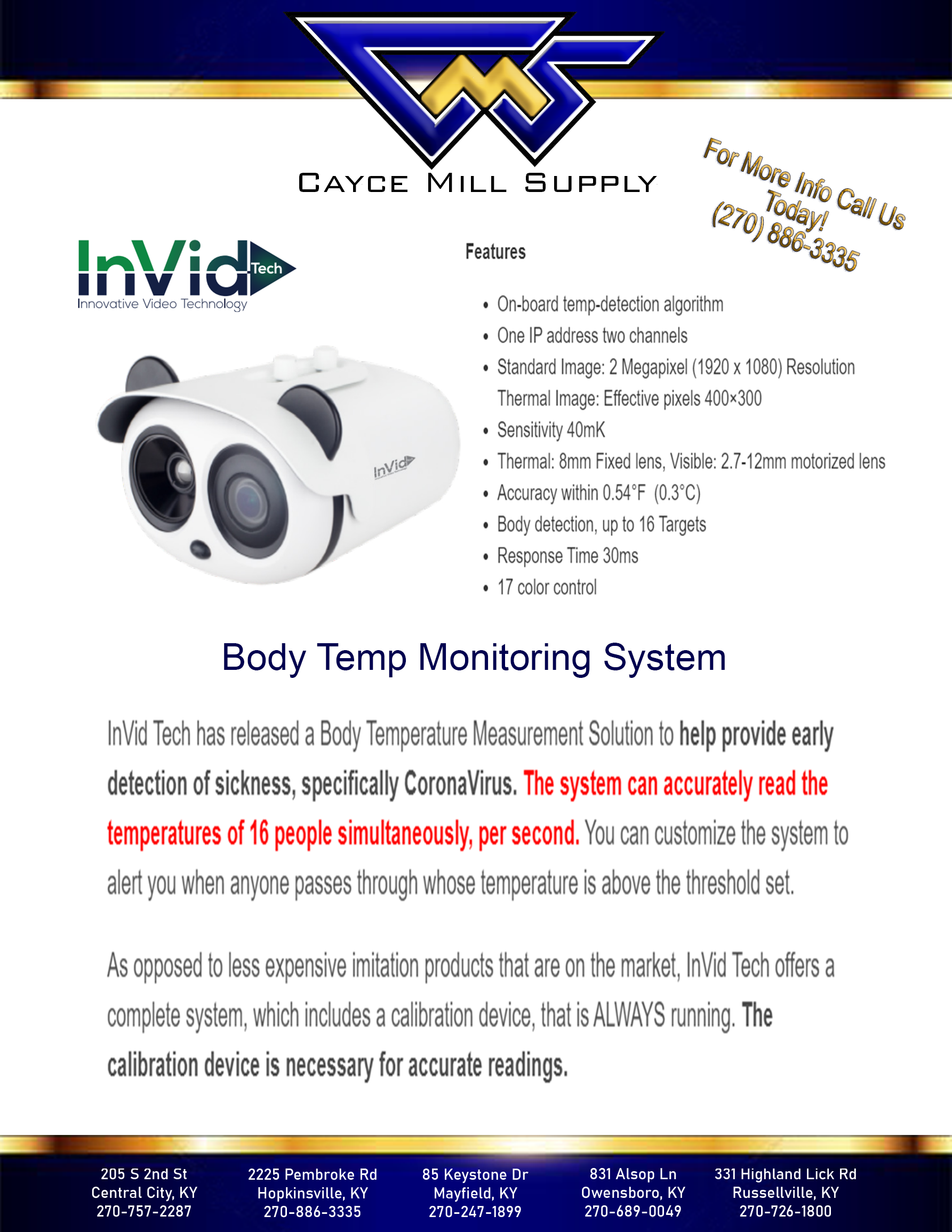 InVid Body Temp Monitoring System