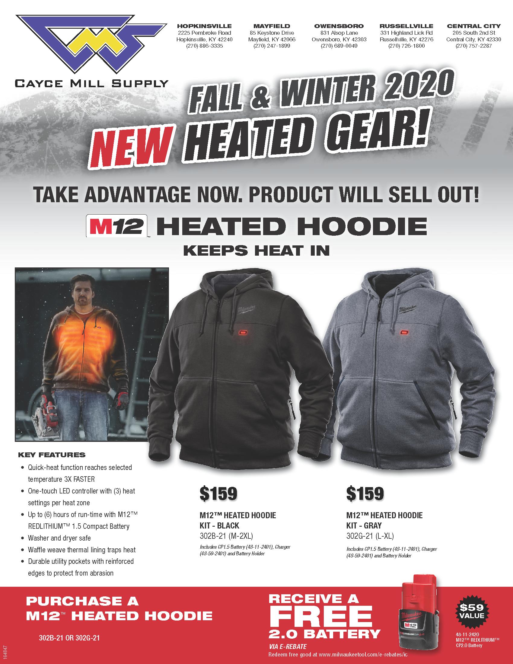 Milwaukee Tool Heated Gear
